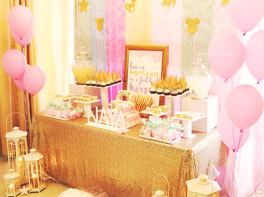 Best ideas about Baby Birthday Decorations . Save or Pin A Unicorn Themed Wel e Baby Party Now.