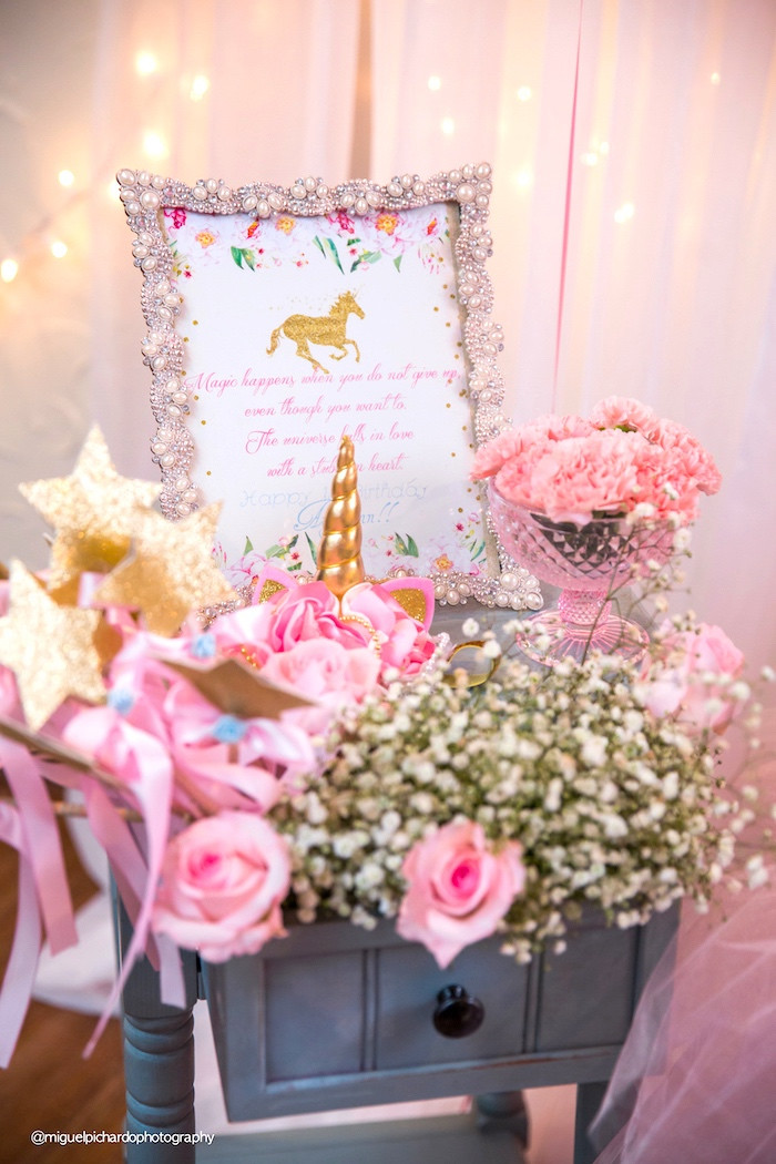 Best ideas about Baby Birthday Decorations . Save or Pin Kara s Party Ideas Baby Unicorn 1st Birthday Party Now.
