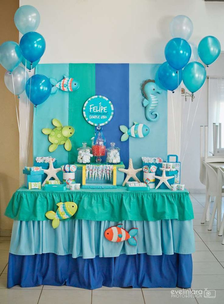 Best ideas about Baby Birthday Decorations . Save or Pin Under the Sea Birthday Party Ideas Now.