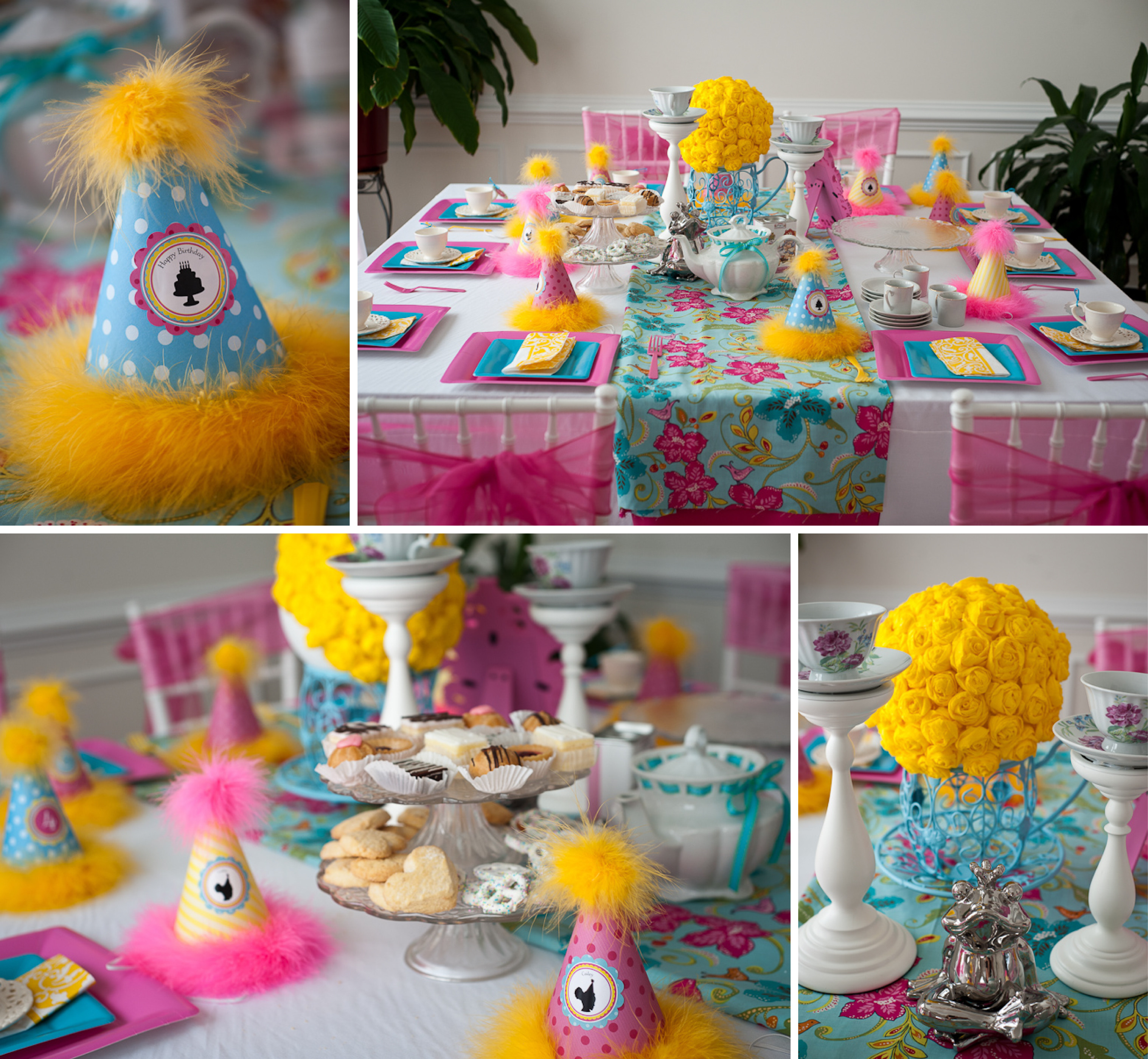 Best ideas about Baby Birthday Decorations . Save or Pin A Precious Tea Party with Tutus and Baby Dolls Anders Now.