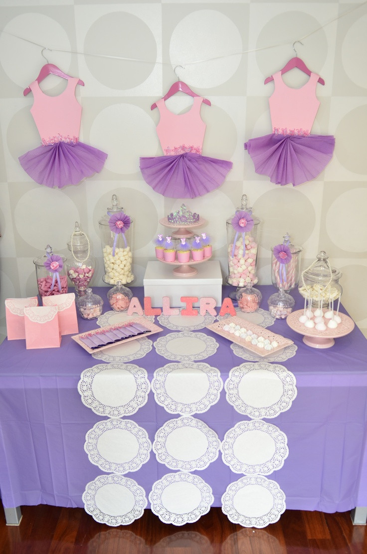 Best ideas about Baby Birthday Decorations . Save or Pin Ballerina Theme Candy Bar Now.