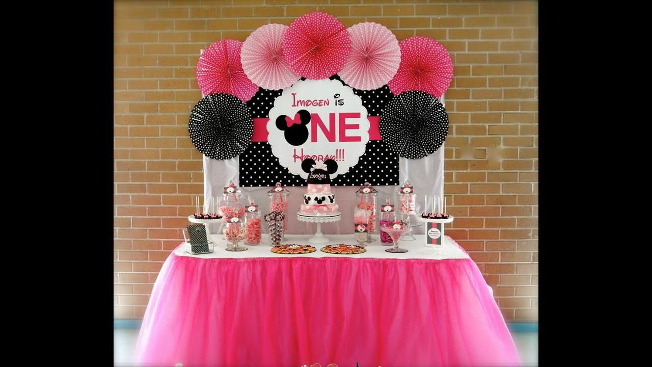 Best ideas about Baby Birthday Decorations . Save or Pin Minnie Mouse First Birthday Party via Little Wish Parties Now.