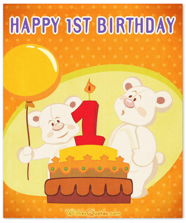 Best ideas about Baby Birthday Wishes . Save or Pin 1st Birthday Wishes and Cute Baby Birthday Messages Now.