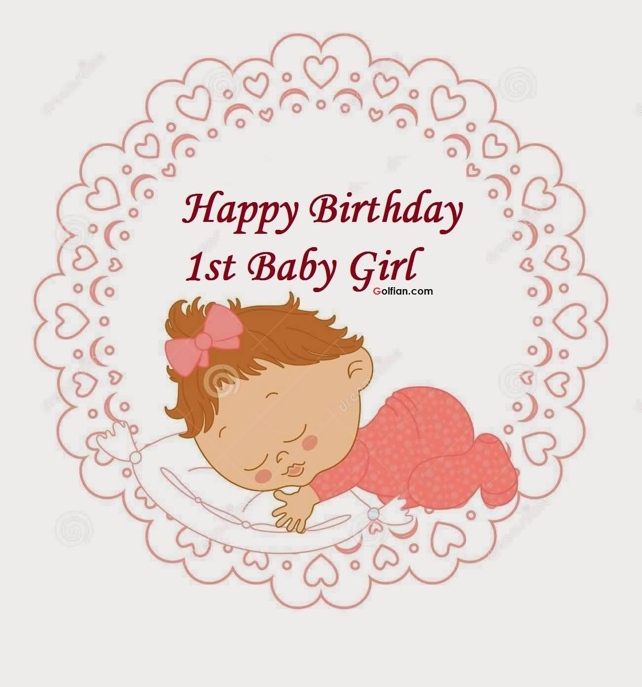 Best ideas about Baby Birthday Wishes . Save or Pin 40 Amazing Birthday Wishes For Baby Girl Golfian Now.