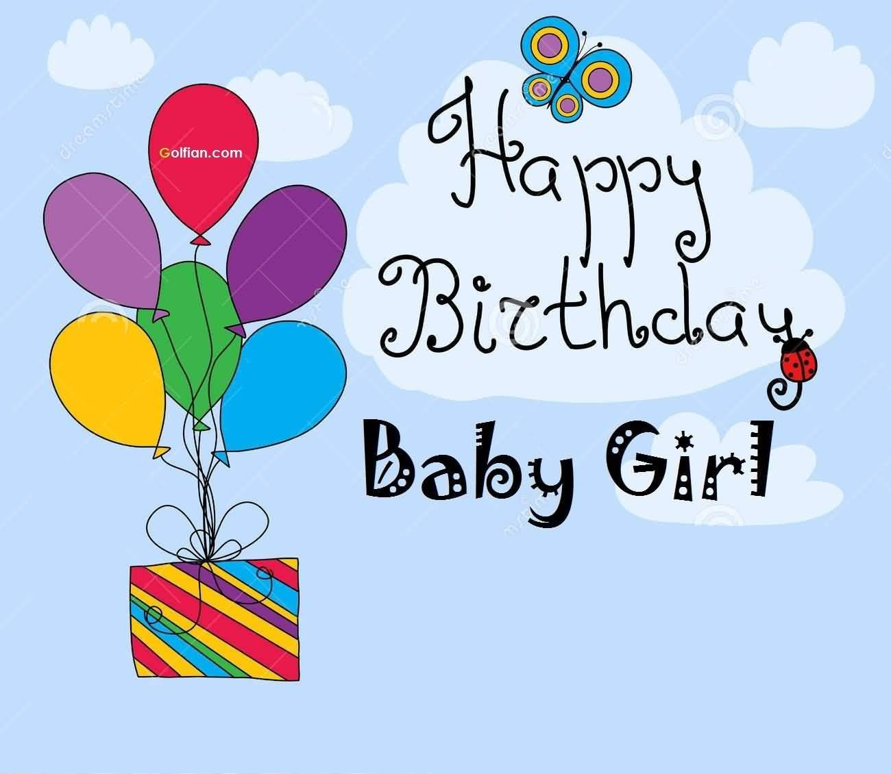 Best ideas about Baby Birthday Wishes . Save or Pin 44 Latest Baby Girl Birthday Wishing Cards Golfian Now.