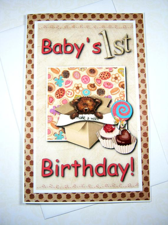 Best ideas about Baby Birthday Wishes . Save or Pin Baby s 1st birthday Happy Birthday Card Birthday Wishes Now.