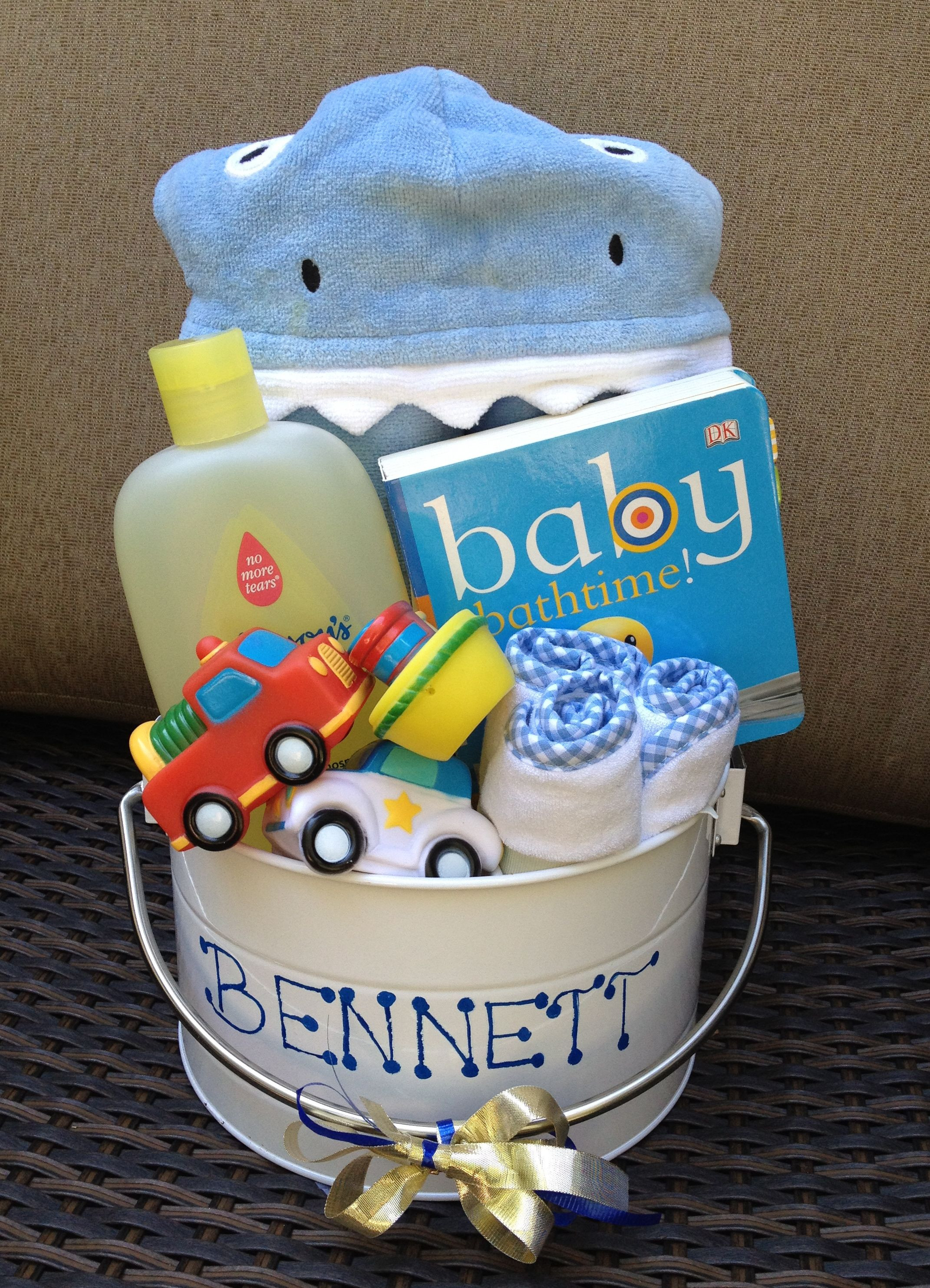 Best ideas about Baby Boy Shower Gift Ideas . Save or Pin Baby Bath Bucket Perfect for baby shower ts for boy or Now.