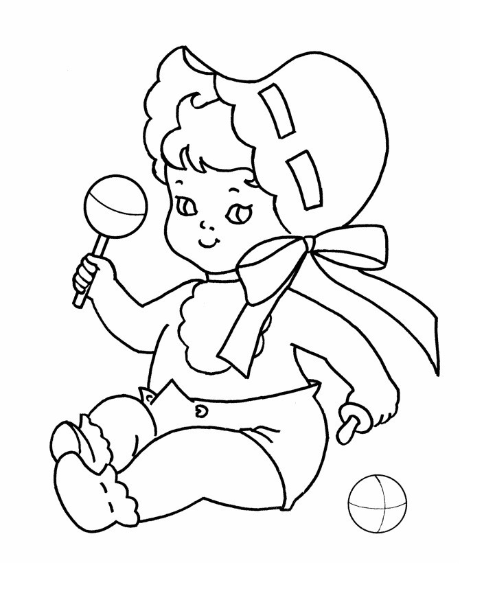 Best ideas about Baby Coloring Pages For Kids . Save or Pin Free Printable Baby Coloring Pages For Kids Now.