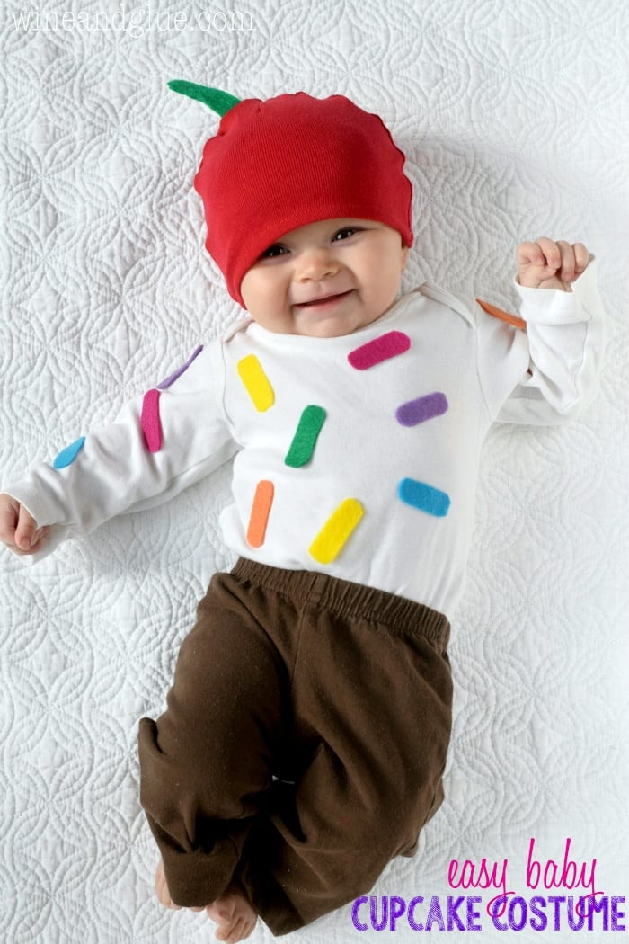 Best ideas about Baby Costume DIY . Save or Pin Easy Cupcake Baby Costume Wine & Glue Now.