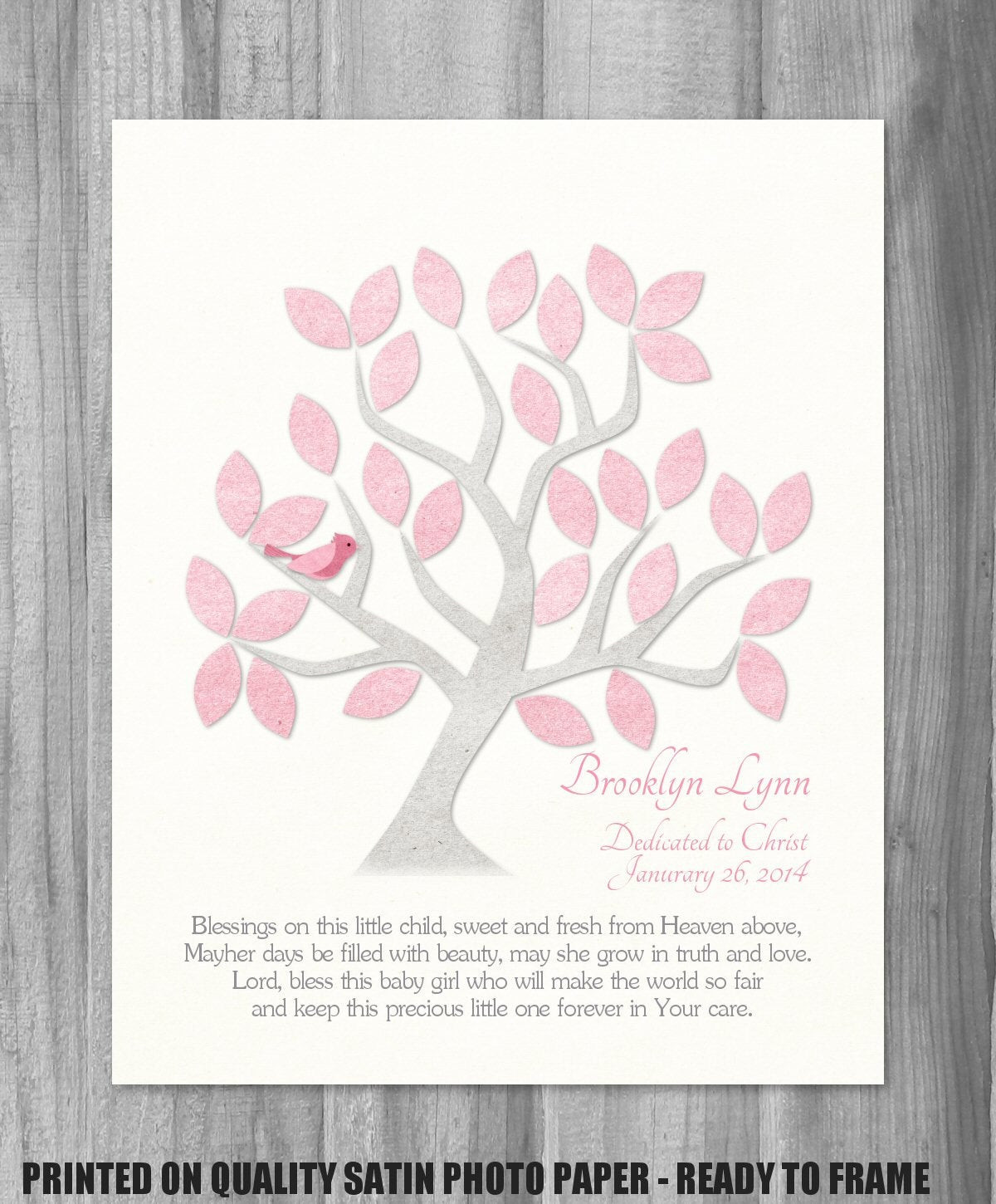 Best ideas about Baby Dedication Gift Ideas . Save or Pin Dedication Gift Baby Girl Baptism Canvas Print Blessing Quote Now.