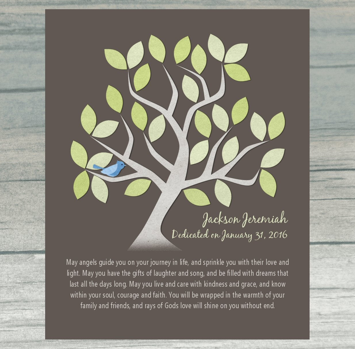Best ideas about Baby Dedication Gift Ideas . Save or Pin BABY DEDICATION Gift Baptism Gift Christening Personalized Now.