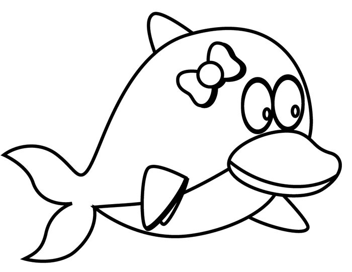 Best ideas about Baby Dolphin Coloring Pages For Kids . Save or Pin Dolphin Template Animal Templates Now.