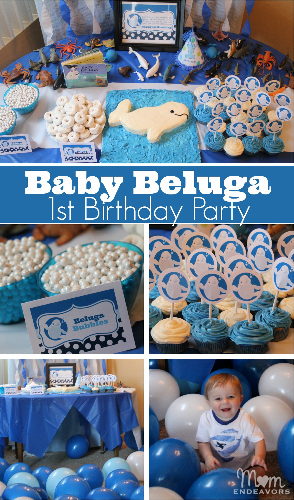 Best ideas about Baby First Birthday Decorations . Save or Pin Baby Beluga 1st Birthday Party Now.