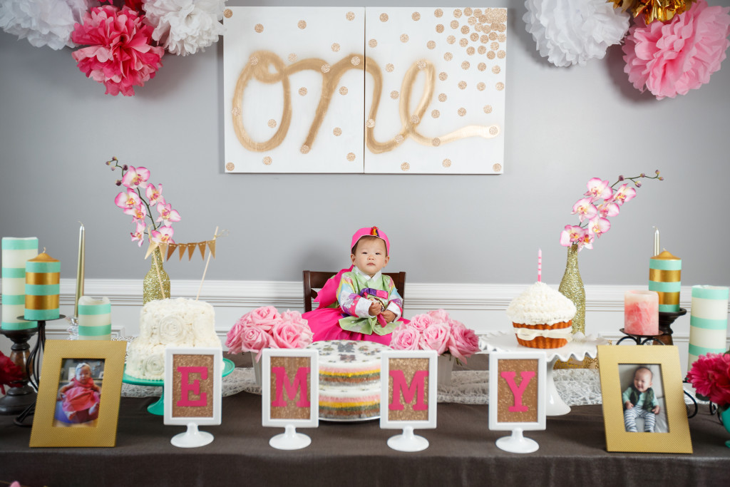 Best ideas about Baby First Birthday Decorations . Save or Pin Emmy s Dohl Korean 1st Birthday Party Love Your Abode Now.