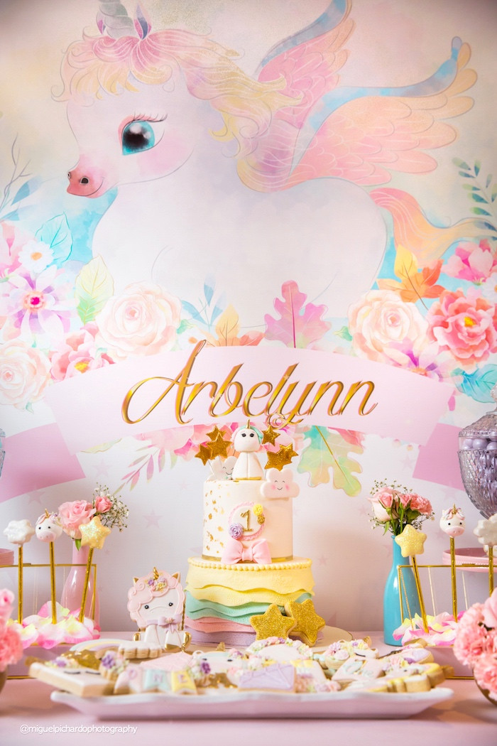 Best ideas about Baby First Birthday Decorations . Save or Pin Kara s Party Ideas Baby Unicorn 1st Birthday Party Now.