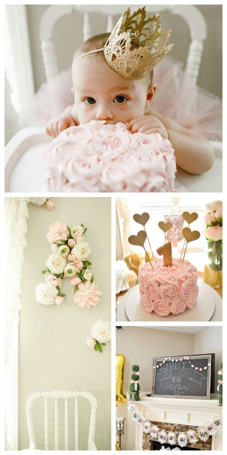 Best ideas about Baby First Birthday Decorations . Save or Pin 25 best ideas about Gold first birthday on Pinterest Now.