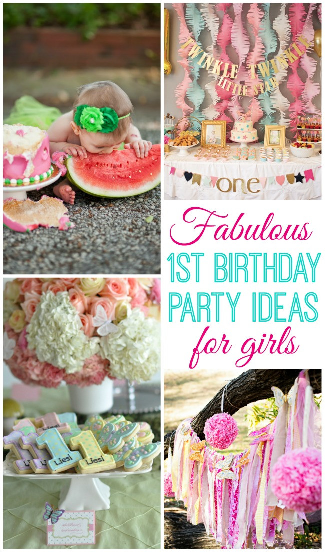 Best ideas about Baby Girl First Birthday Decorations . Save or Pin Baby Girl Turns e Design Dazzle Now.