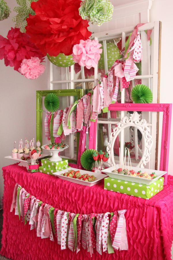 Best ideas about Baby Girl First Birthday Decorations . Save or Pin Kara s Party Ideas Strawberry 1st Birthday Party Now.