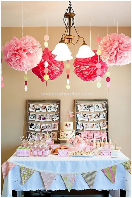 Best ideas about Baby Girl First Birthday Decorations . Save or Pin Banner Birthday Party Child s Birthday Ideas Now.