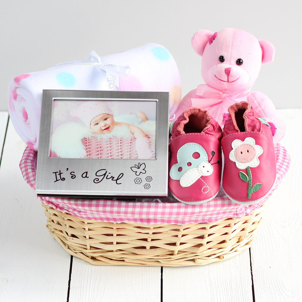 Best ideas about Baby Girl Gift Basket Ideas . Save or Pin Girl s Beautiful New Baby Gift Basket Newborn Baby Hamper Now.