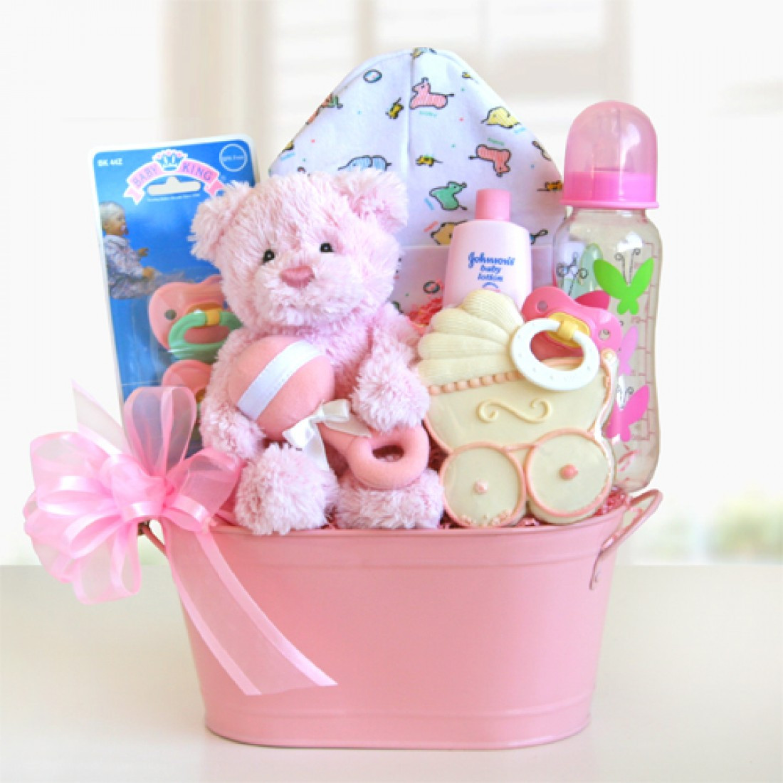 Best ideas about Baby Girl Gift Basket Ideas . Save or Pin Cute Package New Baby Gift Baskets Now.
