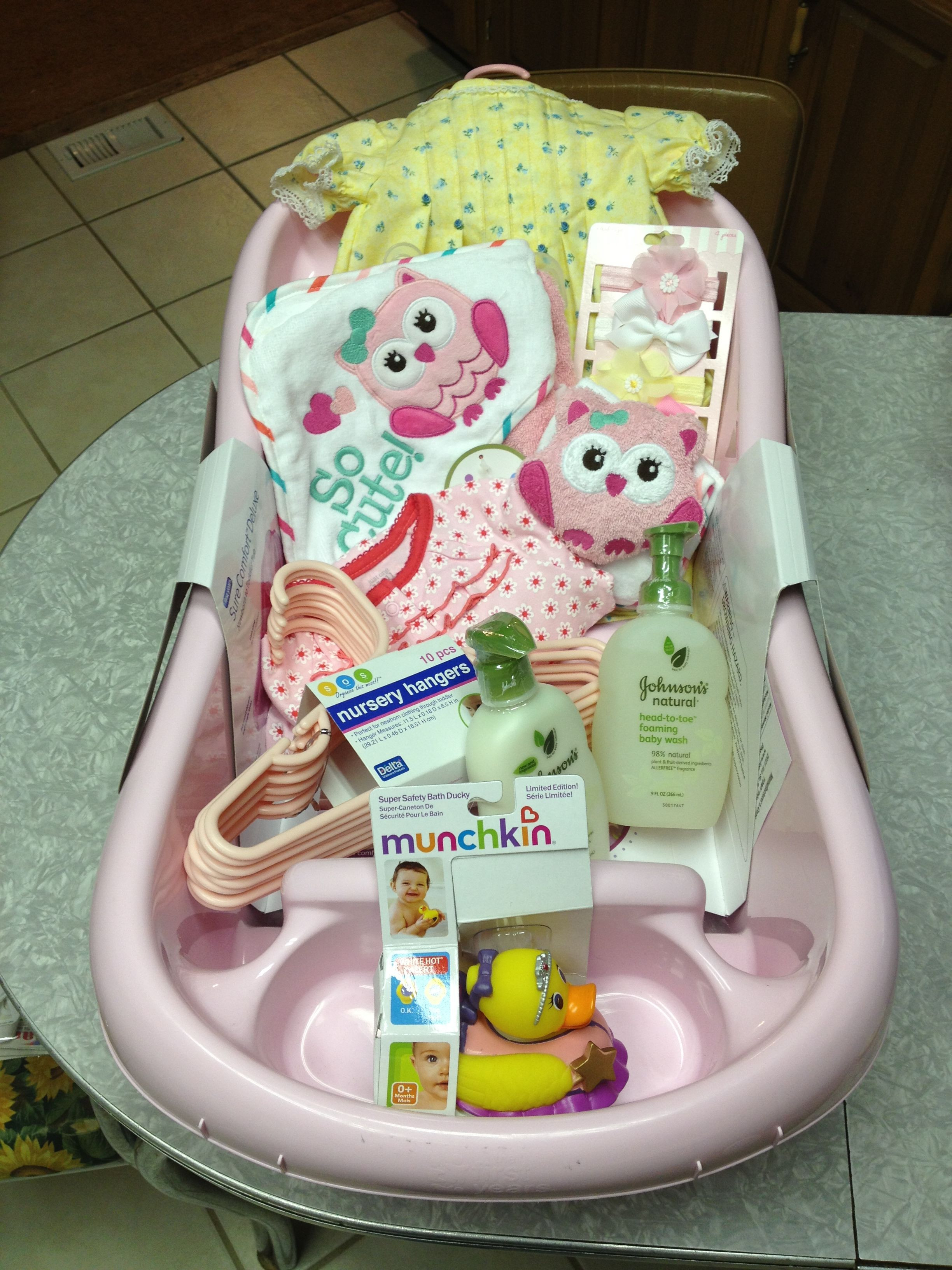 Best ideas about Baby Girl Gift Ideas . Save or Pin Baby girl bathtub t basket Presents Now.