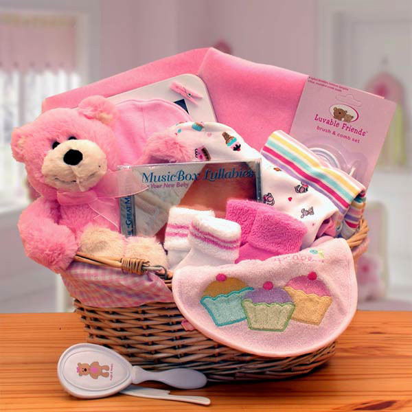 Best ideas about Baby Girl Gift Ideas . Save or Pin Baby Girl Gift Basket Pink Corner Stork Baby Gifts Now.