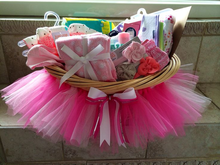 Best ideas about Baby Girl Shower Gift Ideas . Save or Pin Baby shower tutu t basket DIY Now.