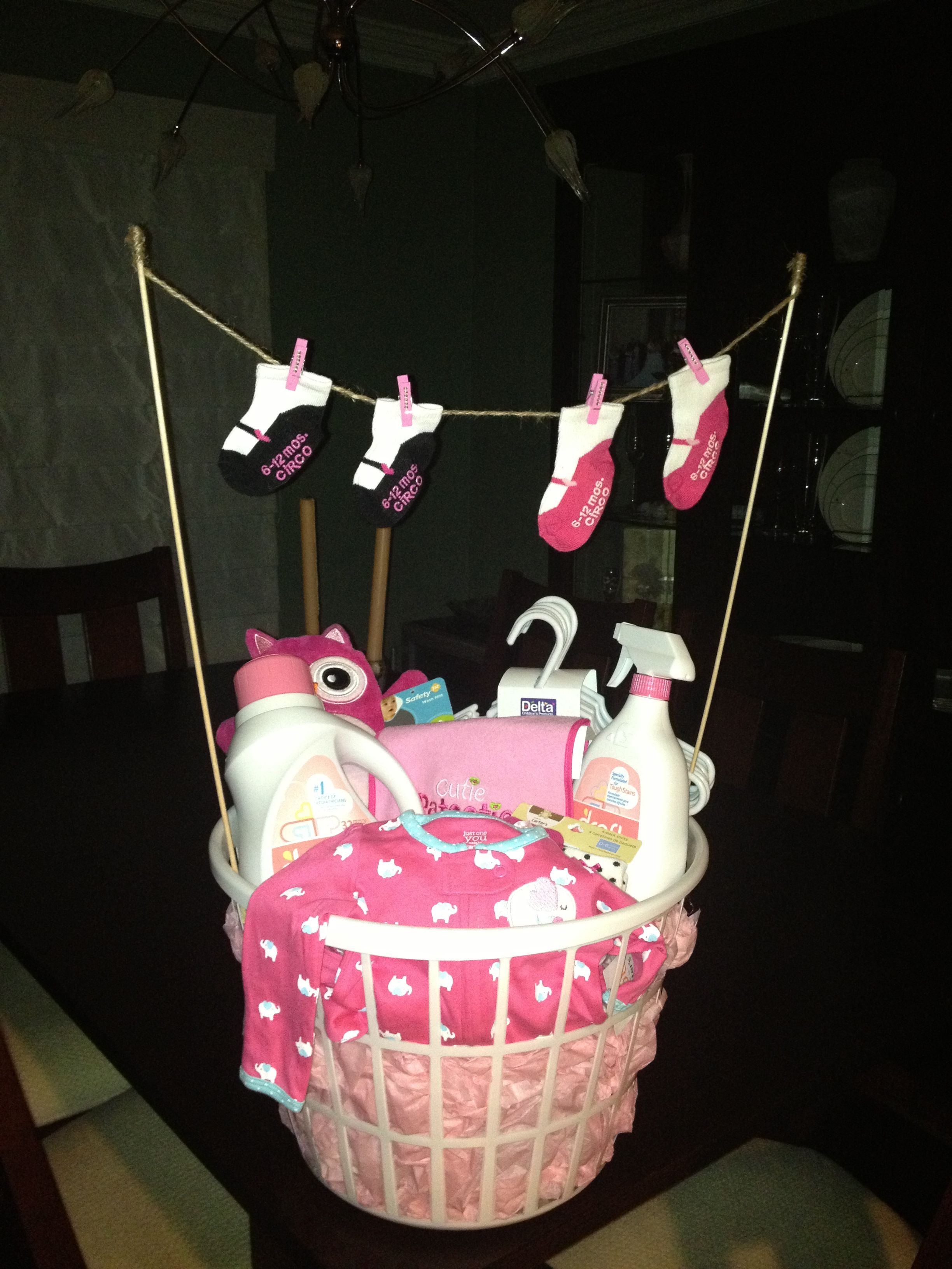 Best ideas about Baby Girl Shower Gift Ideas . Save or Pin Laundry basket baby shower t Baby Gifts Now.