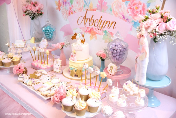 Best ideas about Baby Girls First Birthday Decorations . Save or Pin Kara s Party Ideas Baby Unicorn 1st Birthday Party Now.