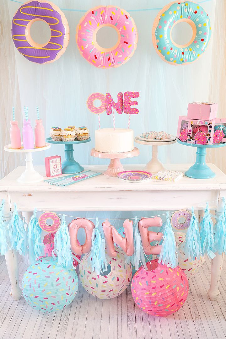 Best ideas about Baby Girls First Birthday Decorations . Save or Pin Donut First Birthday Party Now.
