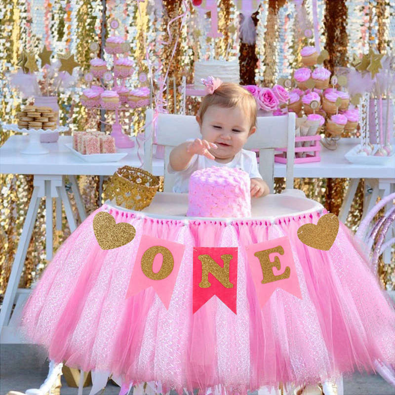 Best ideas about Baby Girls First Birthday Decorations . Save or Pin Baby 1st Birthday High Chair Decoration Baby Shower Boy Now.