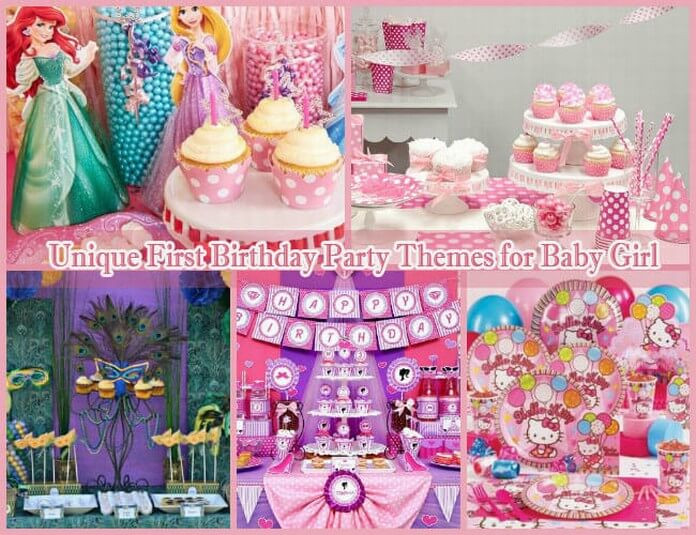 Best ideas about Baby Girls First Birthday Decorations . Save or Pin 10 Unique First Birthday Party Themes for Baby Girl 1st Now.
