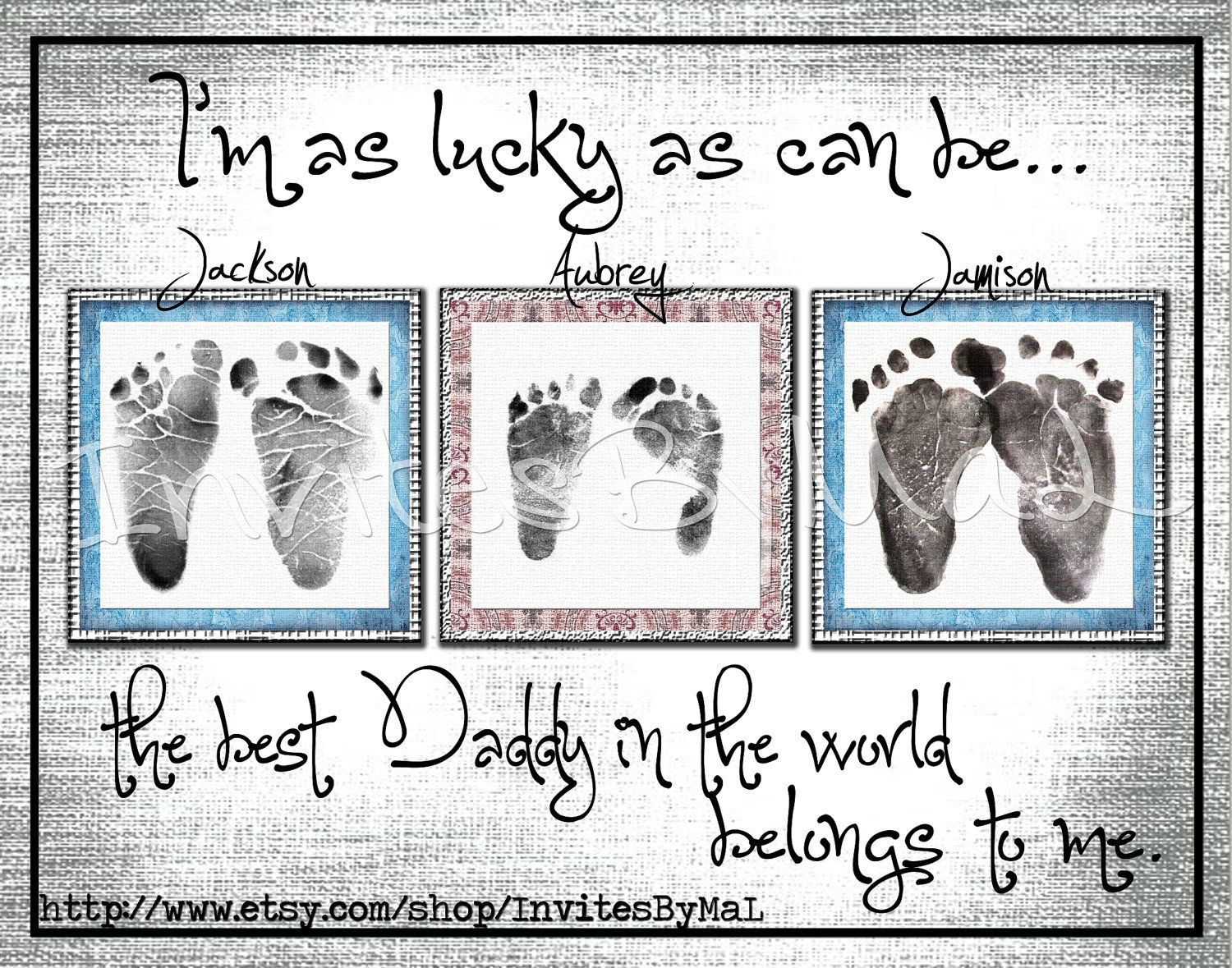 Best ideas about Baby Handprint Gift Ideas . Save or Pin Personalized baby footprint or handprint keepsake t Now.