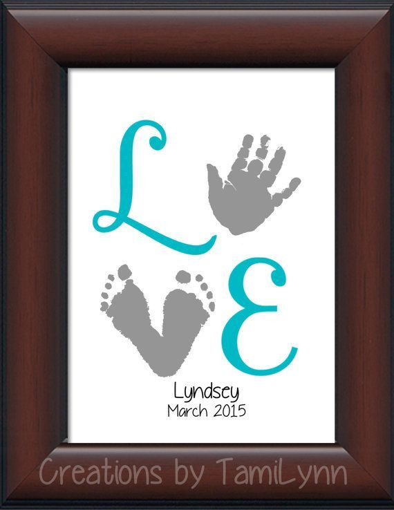 Best ideas about Baby Handprint Gift Ideas . Save or Pin 25 best ideas about Foot prints on Pinterest Now.