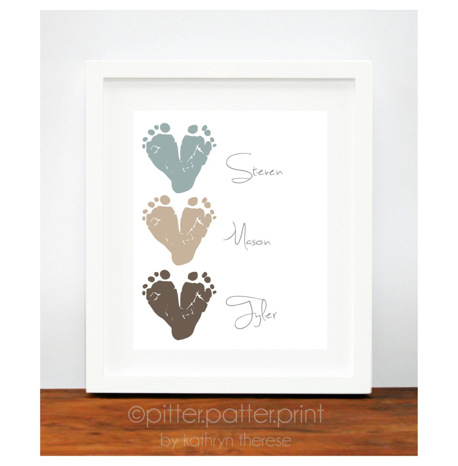 Best ideas about Baby Handprint Gift Ideas . Save or Pin Gift for Grandparents Baby Footprint Hearts by Now.