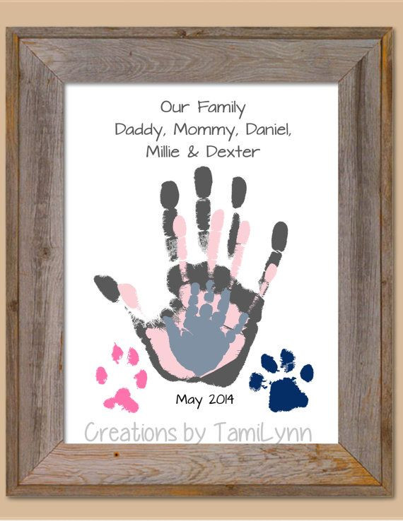 Best ideas about Baby Handprint Gift Ideas . Save or Pin 166 best images about t ideas for grandparents on Now.