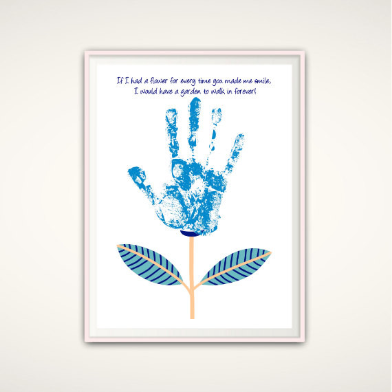 Best ideas about Baby Handprint Gift Ideas . Save or Pin Personalized Handprint Art DIY Gift Idea INSTANT Download Now.
