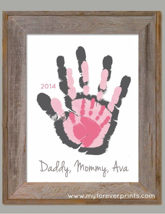 Best ideas about Baby Handprint Gift Ideas . Save or Pin 25 best Family hand prints ideas on Pinterest Now.
