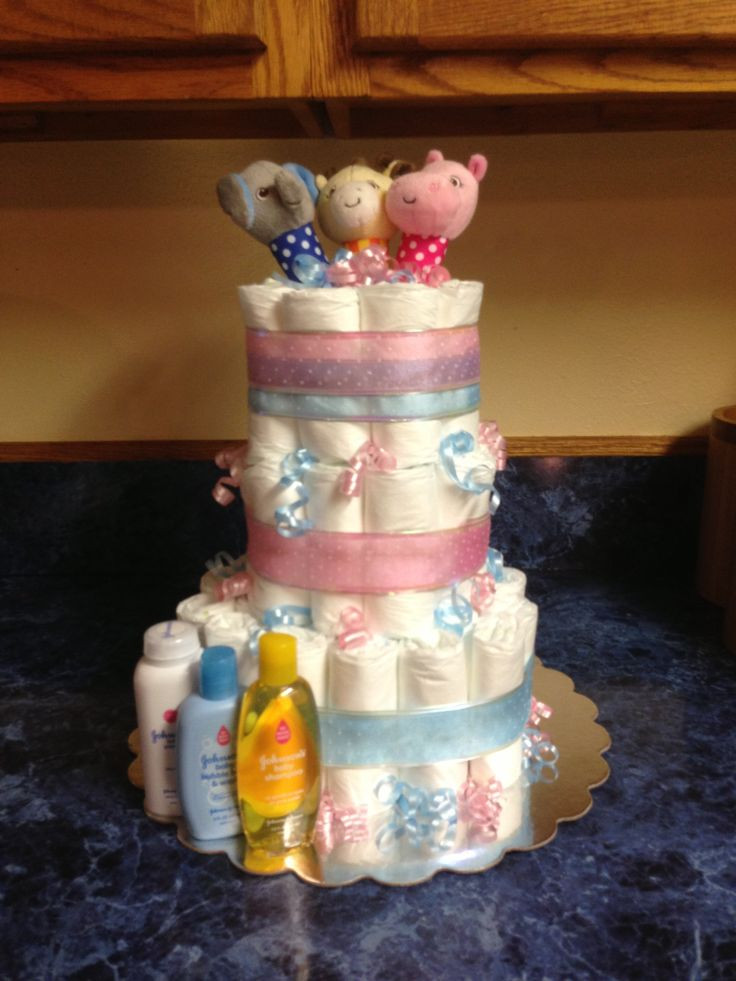 Best ideas about Baby Reveal Gift Ideas . Save or Pin Gender reveal diaper cake Gift Ideas Pinterest Now.