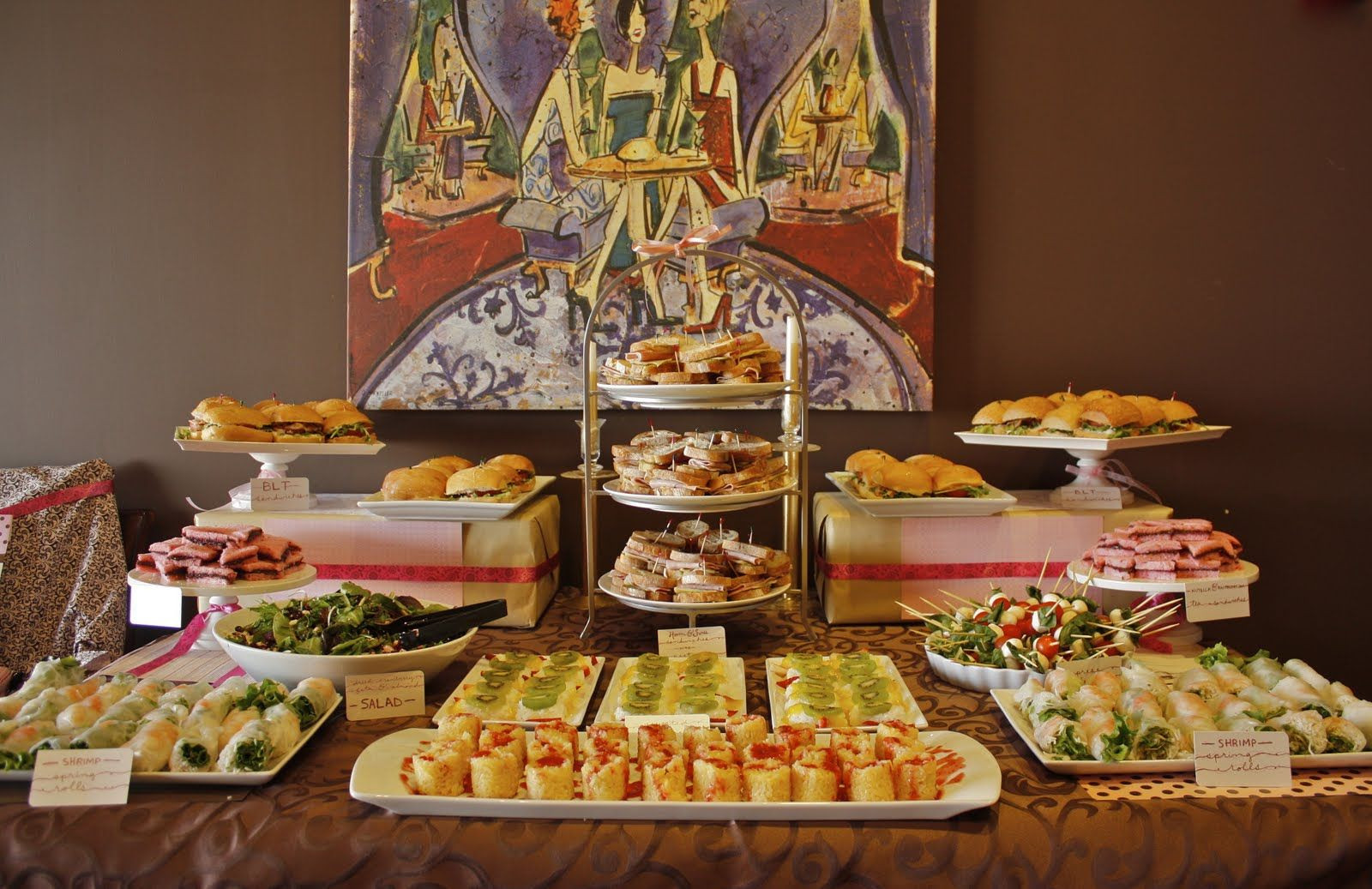 Best ideas about Baby Shower Food Table . Save or Pin baby shower food table display Now.