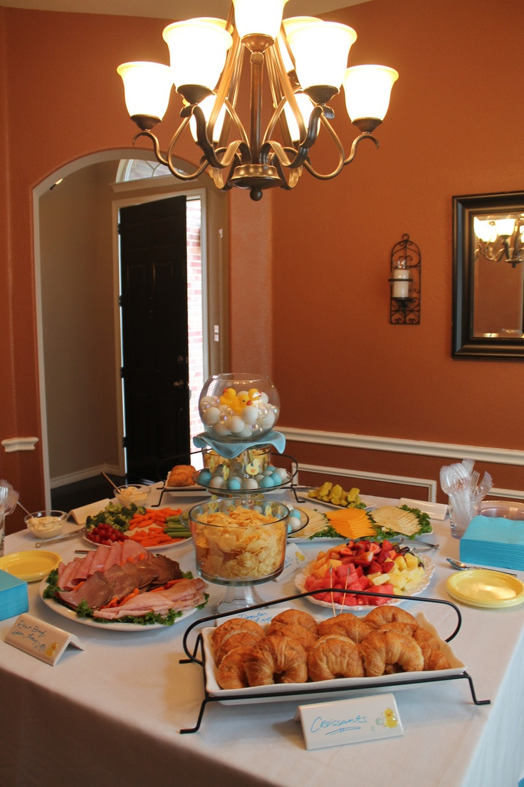 Best ideas about Baby Shower Food Table . Save or Pin Baby Shower Food Table LOVE this Now.