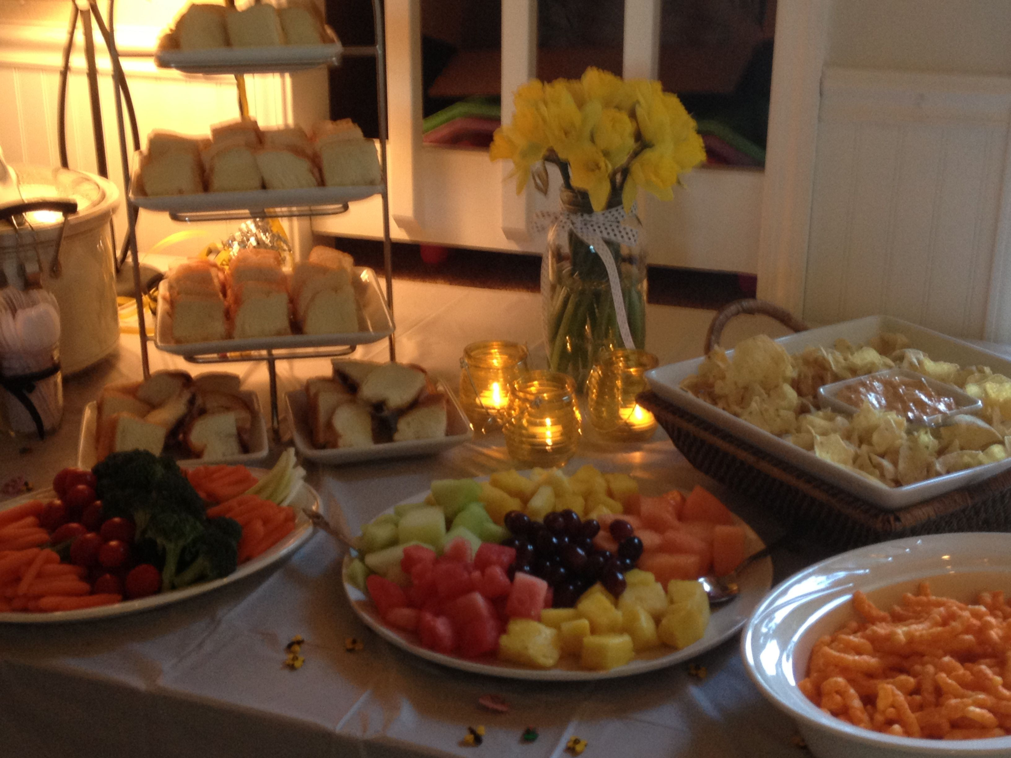 Best ideas about Baby Shower Food Table . Save or Pin Bumblebee baby shower food table Baby Now.