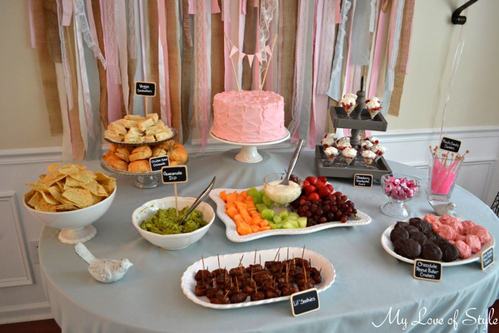Best ideas about Baby Shower Food Table . Save or Pin Shabby Chic Baby Shower Now.