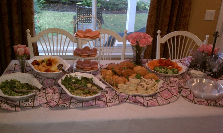 Best ideas about Baby Shower Food Table . Save or Pin Baby Shower Food table Baby Shower Now.