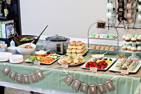 Best ideas about Baby Shower Food Table . Save or Pin A Rustic esie Themed Baby Shower that's twice as nice Now.