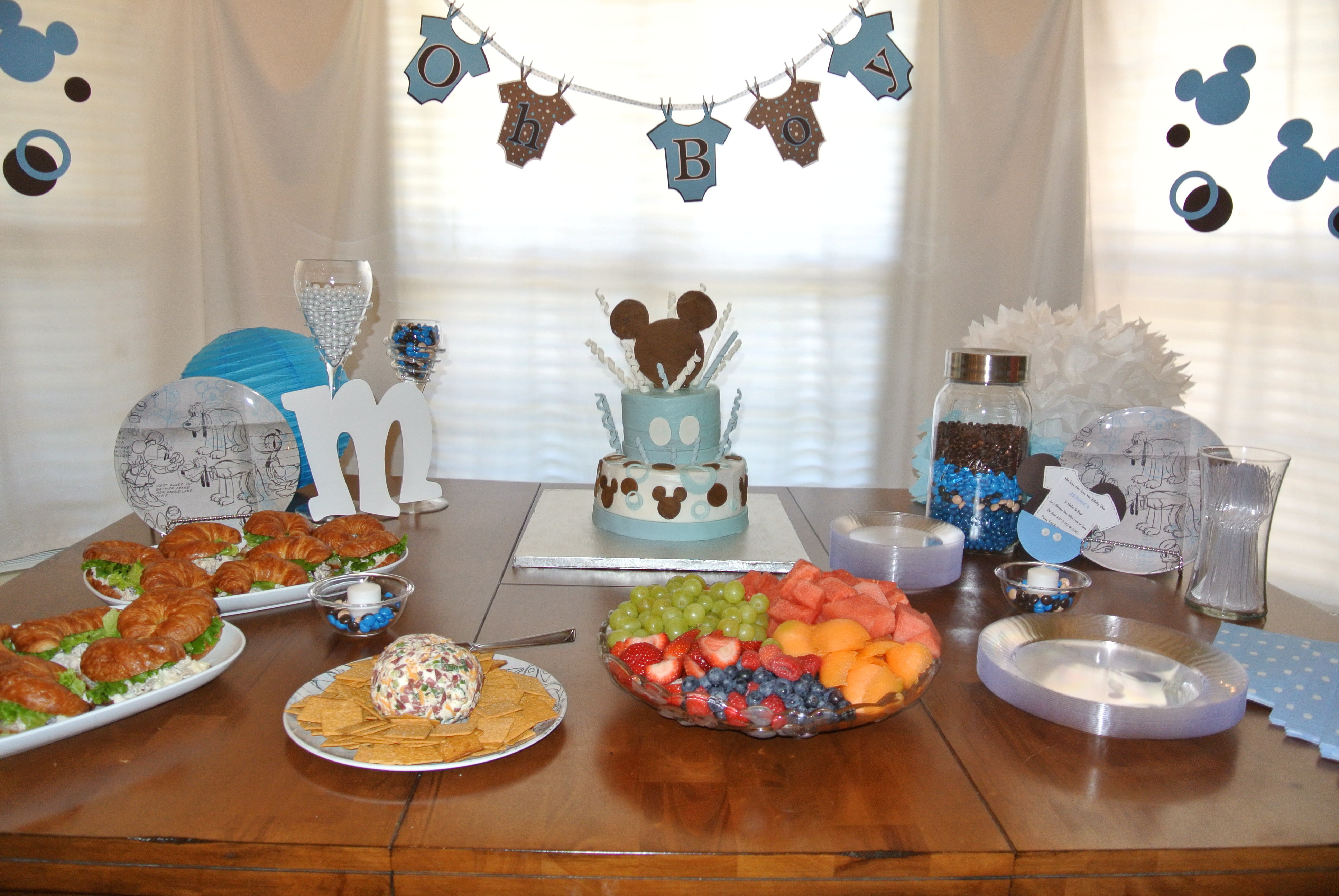 Best ideas about Baby Shower Food Table . Save or Pin Mickey Mouse Inspired Baby Shower Easy Peasy Pleasy Now.