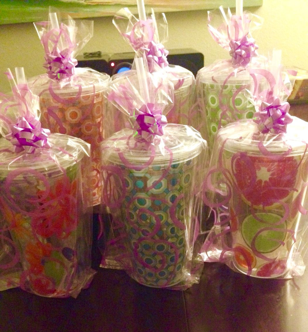Best ideas about Baby Shower Game Gift Ideas . Save or Pin Co ed baby shower prizes Cups bags bows and plastic Now.