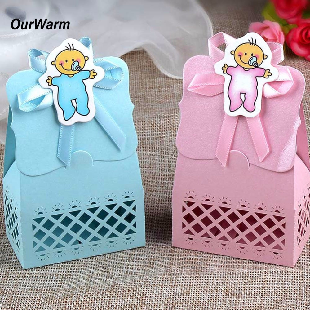 Best ideas about Baby Shower Gift Bags Ideas . Save or Pin OurWarm 12pcs Baby Shower Candy Box Cute Gift Bag Paper Now.