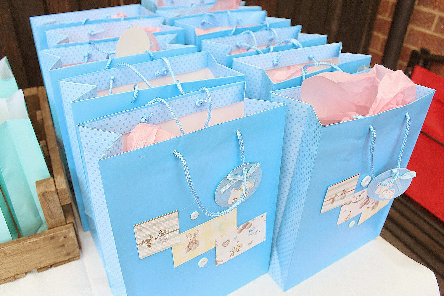 Best ideas about Baby Shower Gift Bags Ideas . Save or Pin The Baby Shower Dolly Bow Bow Now.